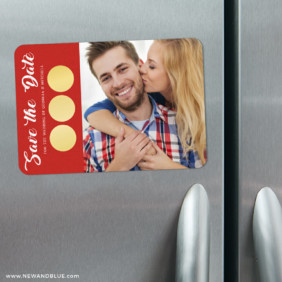 Believe In Love 3 Scratch Off Refrigerator Save The Date Magnets