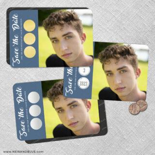 Believe In Love Bar Mitzvah 2 Scratch Off Save The Date Fridge Magnet