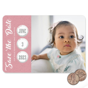 Believe In Love Birthday 1 Scratch Off Save The Date Magnet