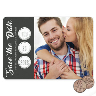 Believe In Love Black 1 Scratch Off Save The Date Magnet