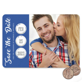 Believe In Love Blue 1 Scratch Off Save The Date Magnet