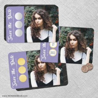 Believe In Love Quinceanera 2 Scratch Off Save The Date Fridge Magnet