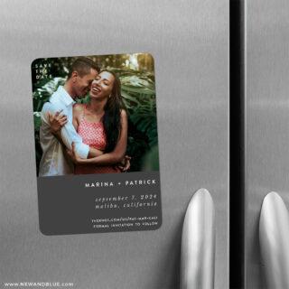 Better Half 2 Save The Date Refrigerator Magnet