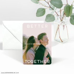 Better Together 3 Save The Date Magnet With Envelope