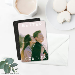 Better Together 6 Wedding Save The Date Magnets With Envelope
