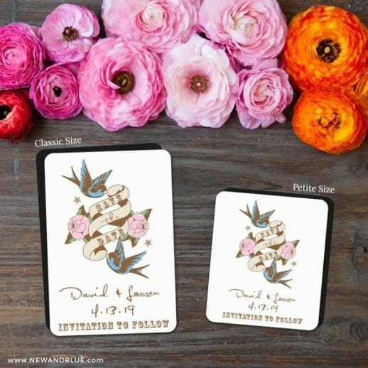 Bettie 2 Save The Date Magnet Classic And Petite Size