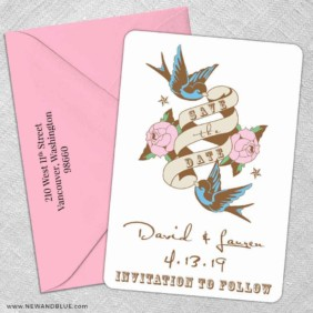 Bettie 5 Save The Date With Optional Color Envelope