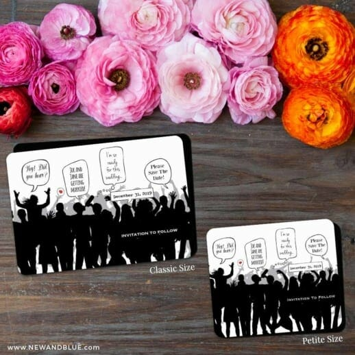 Big Celebration 2 Save The Date Magnet Classic And Petite Size