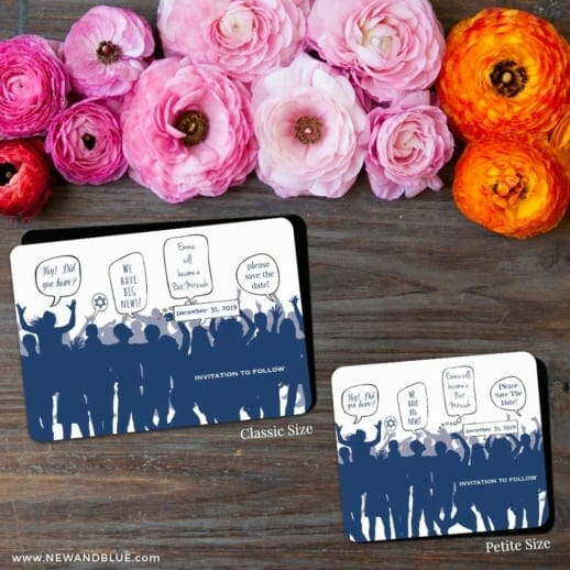 Big Celebration Bar Mitzvah 2 Save The Date Magnet Classic And Petite Size