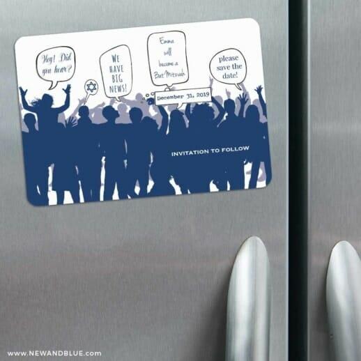 Big Celebration Bar Mitzvah 3 Refrigerator Save The Date Magnets