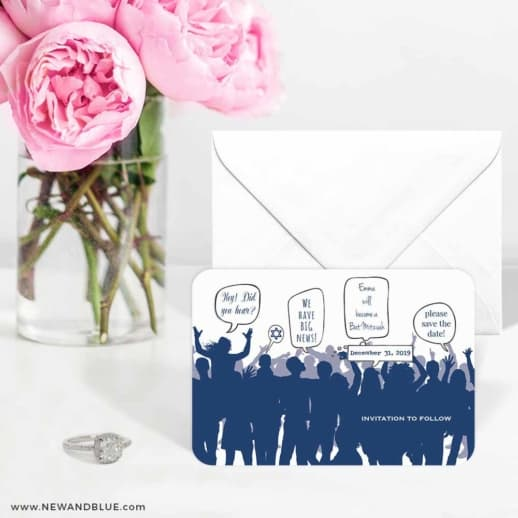 Big Celebration Bar Mitzvah 6 Wedding Save The Date Magnets