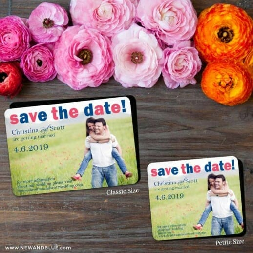 Big Sky 2 Save The Date Magnet Classic And Petite Size