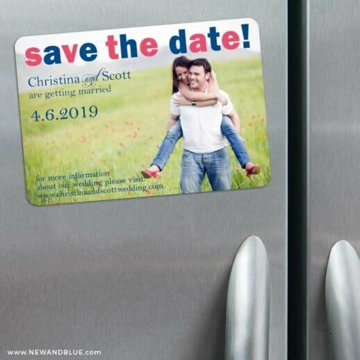 Big Sky 3 Refrigerator Save The Date Magnets