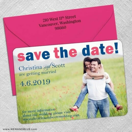 Big Sky 5 Save The Date With Optional Color Envelope