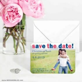 Big Sky 6 Wedding Save The Date Magnets