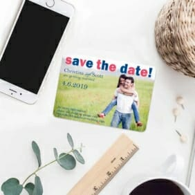 Big Sky 7 Wedding Save The Date Magnets