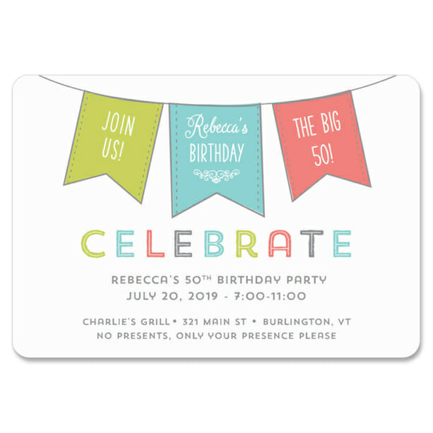 Birthday Banner 1 Save The Date Magnets1