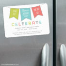 Birthday Banner 3 Refrigerator Save The Date Magnets1