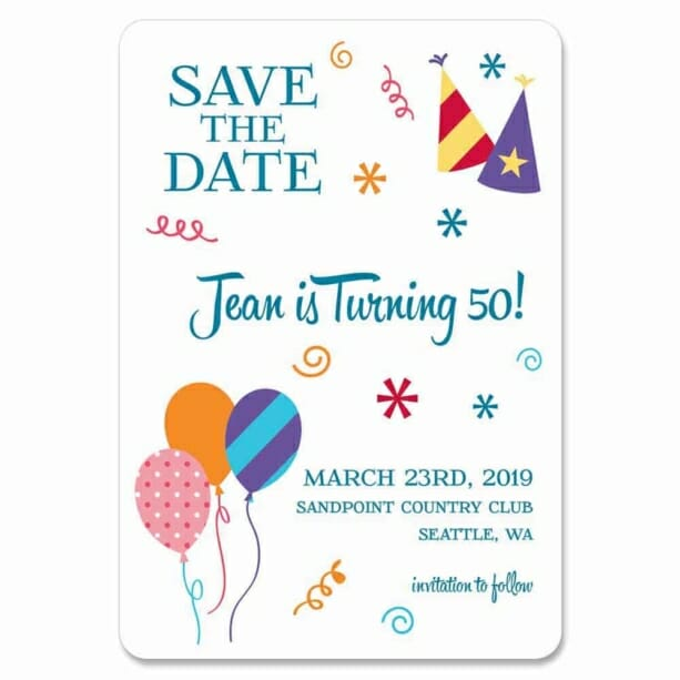 Birthday Bash 1 Save The Date Magnets
