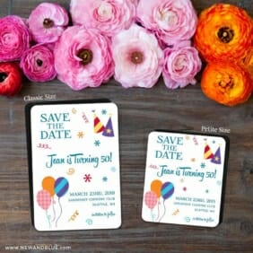 Birthday Bash 2 Save The Date Magnet Classic And Petite Size