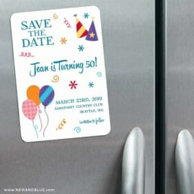 Birthday Bash 3 Refrigerator Save The Date Magnets