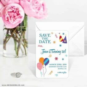 Birthday Bash 6 Wedding Save The Date Magnets