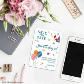 Birthday Bash 7 Wedding Save The Date Magnets