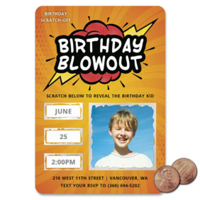 Birthday Blowout 1 Scratch Off Save The Date Magnet
