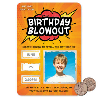 Birthday Blowout 1 Scratch Off Save The Date Magnets