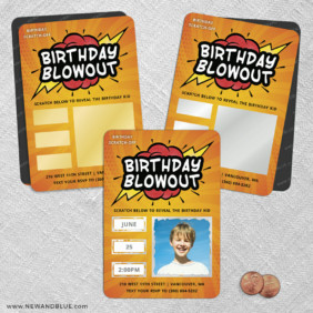 Birthday Blowout 2 Scratch Off Save The Date Fridge Magnet
