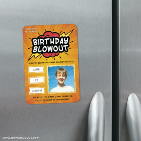 Birthday Blowout 3 Scratch Off Refrigerator Save The Date Magnets