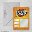 Birthday Blowout 4 Scratch Off Save The Date With Optional Color Envelope