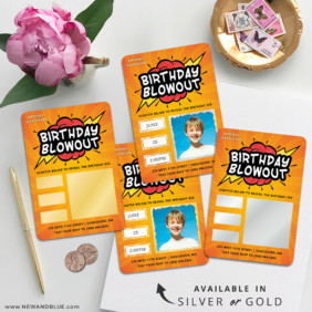 Birthday Blowout 4 Scratch Off Wedding Magnet