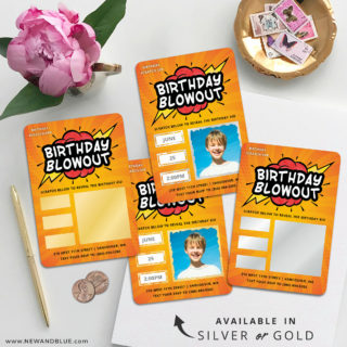 Birthday Blowout 4 Scratch Off Wedding Magnet