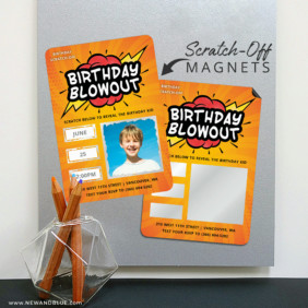 Birthday Blowout 8 Scratch Off Magnetic Save The Date