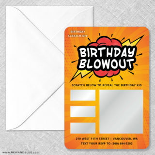 Birthday Blowout Scratch Off Magnet Size Classic