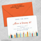 Birthday Candles 3 Save The Date With Optional Color Envelope