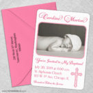 Blessed Baptism 5 Save The Date With Optional Color Envelope1