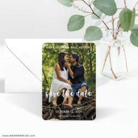 Bliss 3 Save The Date Magnet With Envelope
