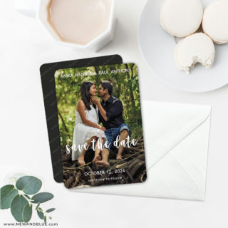 Bliss 6 Wedding Save The Date Magnets With Envelope