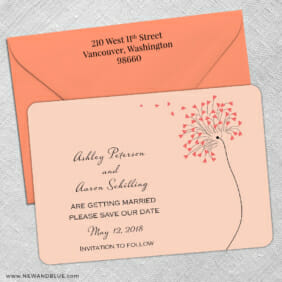 Blown Away 5 Save The Date With Optional Color Envelope3