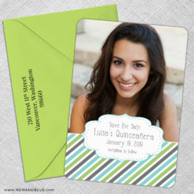 Bonita Quinceanera 5 Save The Date With Optional Color Envelope1