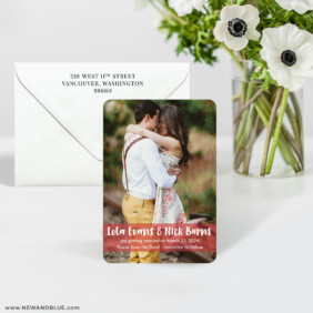 Breckenridge 7 Wedding Save The Date Magnet