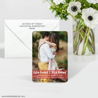 Breckenridge 7 Wedding Save The Date Magnet