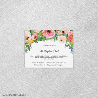 Bright Blooms Pink V2 Shown With Optional Card A2 Landscape