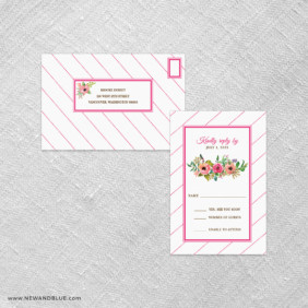 Brilliant Floral All In One Detachable Portrait Response Card