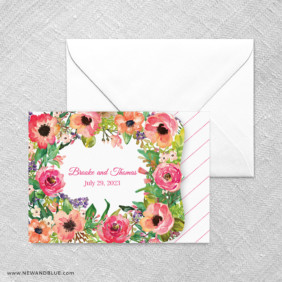 Brilliant Floral All In One Invitation Set