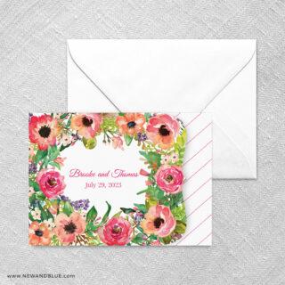 Brilliant Floral All In One Invitation Set
