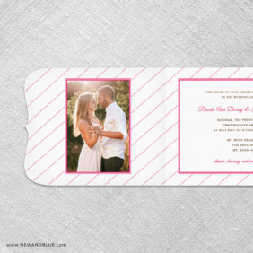 Brilliant Floral All In One Invitation With Optional Photo