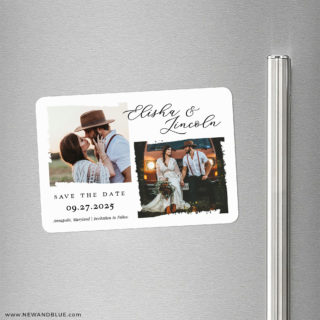 Brushstroke 2 Save The Date Refrigerator Magnet
